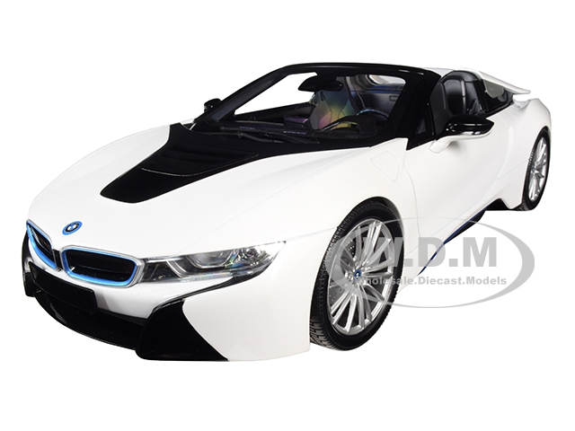 2018_BMW_i8_Roadster_Metallic_White_Limited_Edition_to_504_pieces_Worldwide_118_Diecast_Model_Car_by_Minichamps