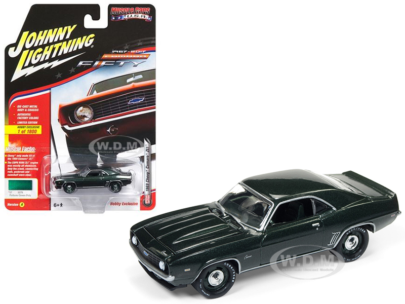 1969 Chevrolet Camaro ZL1 Fathom Green Poly 50th Anniversary Limited Edition to 1800pc Worldwide Hobby Exclusive