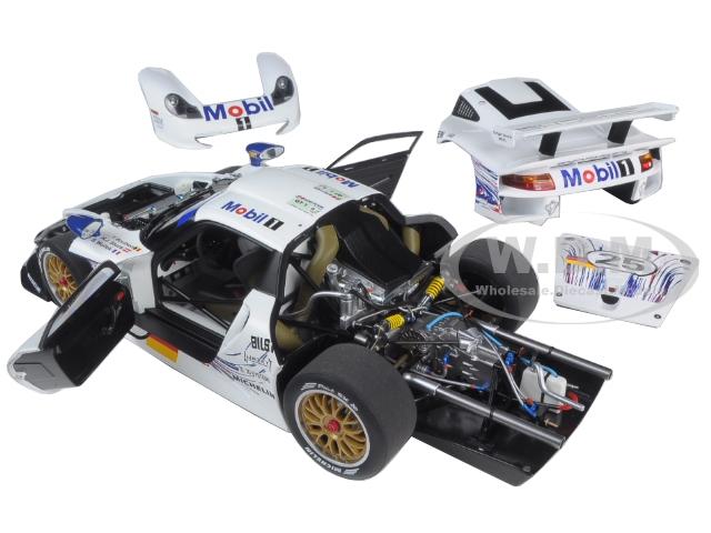 1997-porsche-911-gt1-25-24hrs-lemans-hstucktboutsenbwollek-118-diecast-model-car-by-autoart