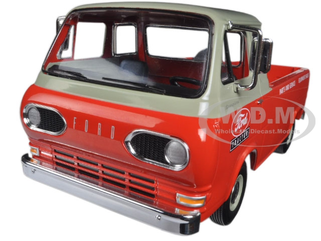 1960s Ford Econoline Pickup Red with Boxes
