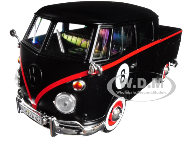 Volkswagen_Type_2_T1_Double_Cab_Pickup_8_Matt_Black_124_Diecast_Car_Model_by_Motormax