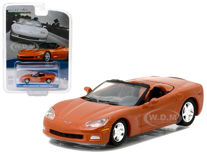 2012 Chevrolet Corvette Convertible Inferno Orange General Motors Collection Series 1 1 64 Diecast Model Car by Greenlight