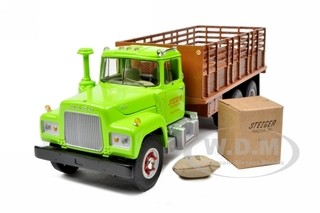 Mack R Model Stake Truck with load. Stieger Tractor Inc 1/34 Diecast Model by First Gear