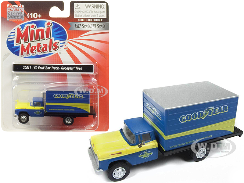 1960_Ford_Box_Truck_Goodyear_Blue_187_HO_Scale_Model_by_Classic_Metal_Works