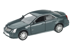 Discount Automotive Parts Online 2009 Cadillac CTS-V Supercharged Grey 1/43 Diecast Model Car by Luxury Diecast