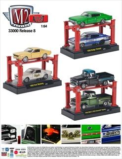 Auto Lift Series 8 6pc Set 1/64 Diecast Car Models by M2 Machines