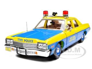 1974 Dodge Monaco New York State Police 1/18 Diecast Model Car by Autoworld