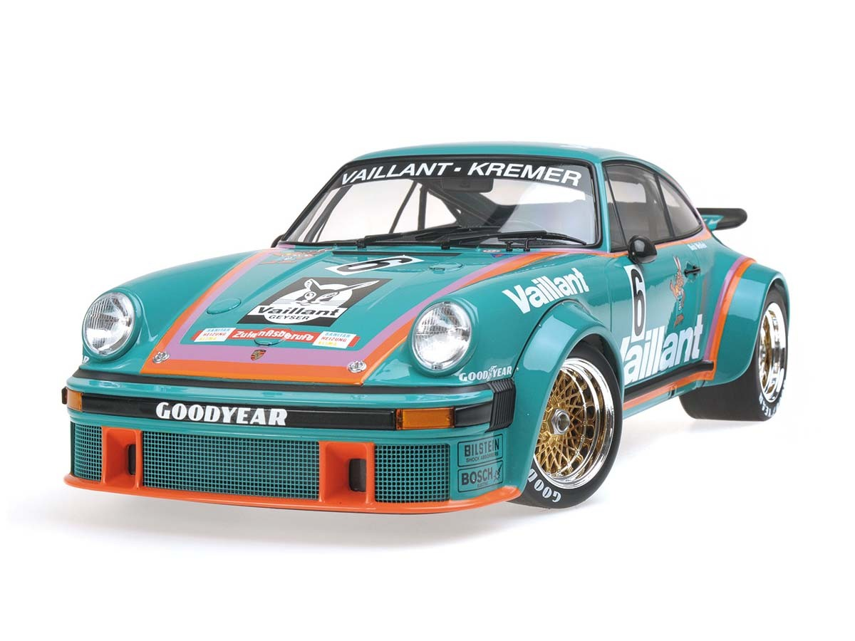 "1976 Porsche 934 ""Vaillant"" Bob Wollek 6 Team Kremer Racing Winner DRM Norisring 1/12 Diecast Model Car by Minichamps"