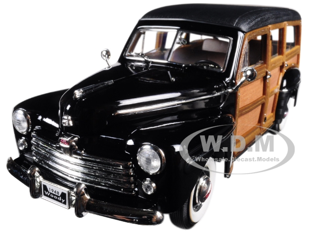 Image 20028blk Online Inventory 1948 Ford Woody Black 1/18 Diecast Model Car by Road Signature iggykohlc Toys/Games Misc. Ford Models
