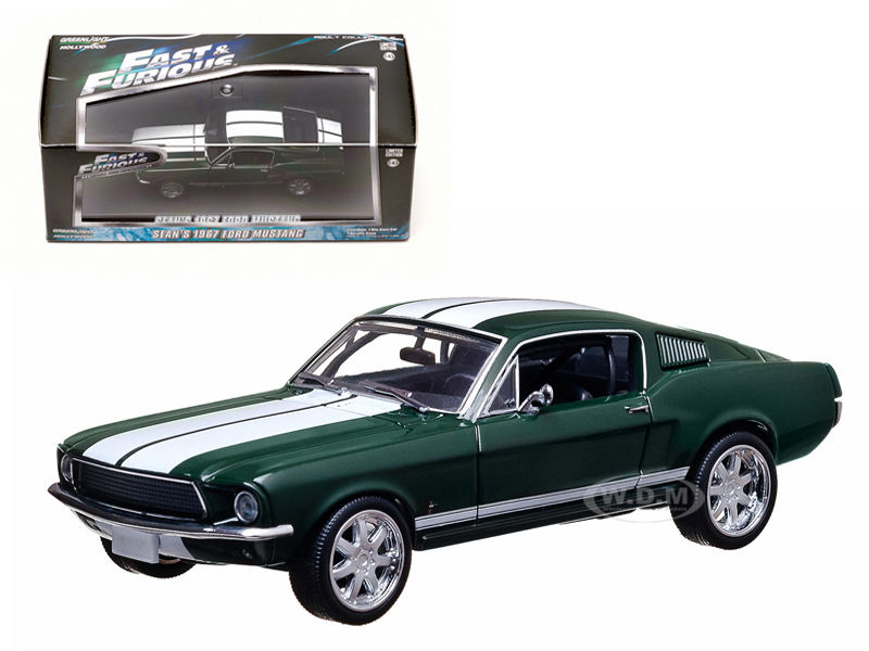 "Seans 1967 Ford Mustang """"The Fast and The Furious"""" Movie (2006) Tokyo Drift 1/43 Diecast Car Model by Greenlight"" GL86211"