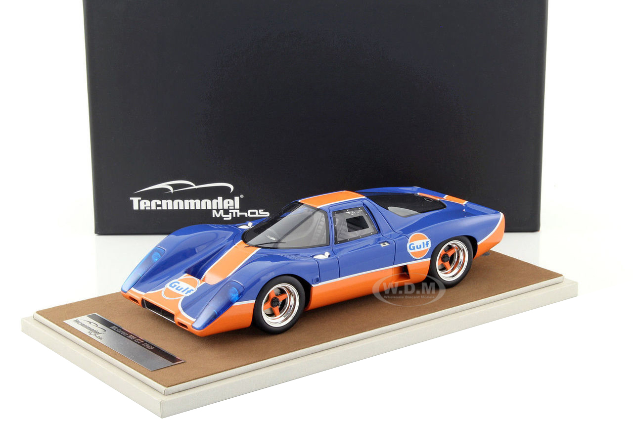 1969 McLaren M6 GT Gulf Edition Limited Edition to 100pcs 1/18 Model Car by Tecnomodel