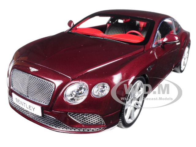 2016 Bentley Continental GT LHD Burgundy 1/18 Diecast Model Car by Paragon (98221) photo