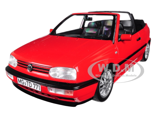 1995_Volkswagen_Golf_Cabriolet_Red_118_Diecast_Model_Car_by_Norev