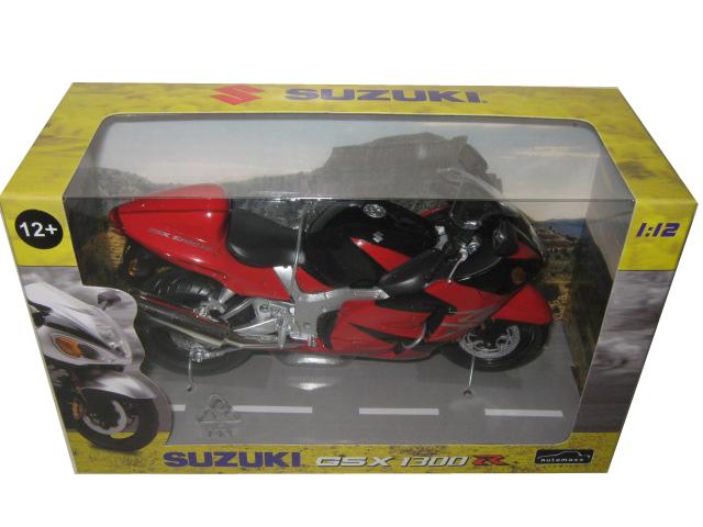 Suzuki Gsx 1300 R Red/black Motorcycle Model 1/12 By Automaxx