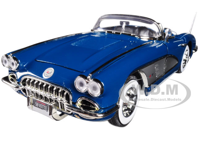 1958 Chevrolet Corvette Turquoise Timeless Classics 1 18 Diecast Model Car by Motormax