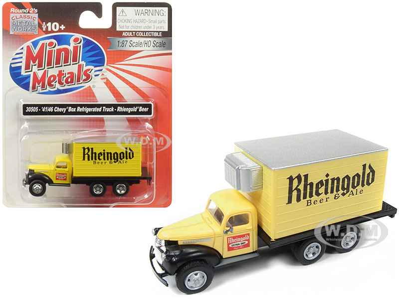 19411946_Chevrolet_Box_Reefer_Refrigerated_Truck_Rheingold_Beer_&amp_Ale_Yellow_187_HO_Scale_Model_by_Classic_Metal_Works