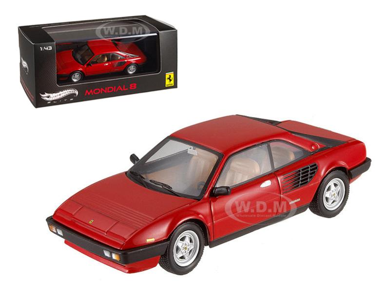 Ferrari Mondial 8 Red Elite Edition Limited Edition 1 of 5000 Produced Worldwide 1/43 Diecast Model Car by Hotwheels