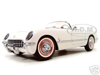 1953 Chevrolet Corvette Polo White 1/18 Diecast Model Car by Autoart