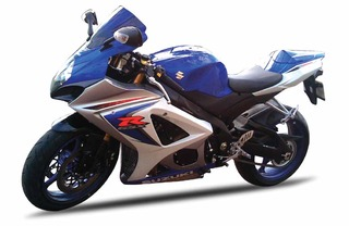 2008 Suzuki GSX-R1000 Blue Bike Motorcycle 1/12 by New Ray NR57003a