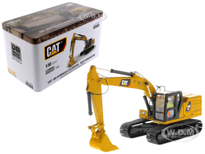 CAT Caterpillar 320 Hydraulic Excavator with Operator High Line Series 1/50 Diecast Model by Diecast Masters