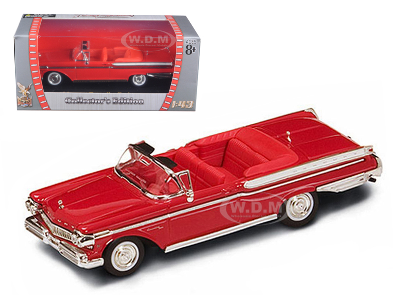 1957 Mercury Turnpike Cruiser Red 1/43 Diecast Car Model by Road Signature 94253r