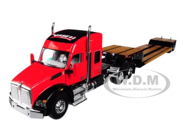 Case IH Kenworth T880 Sleeper Cab with Fontaine Renegade Lowboy Trailer 1/64 Diecast Model by Speccast