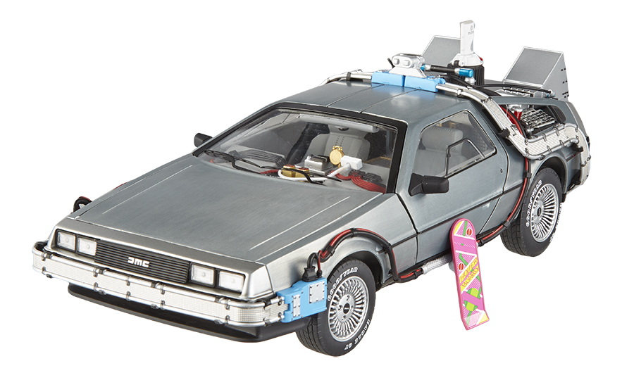 Elite Cult Classics Back To The Future Time Machine Delorean with Extras and Mr. Fusion 1/18 Diecast Car Model by Hotwheels