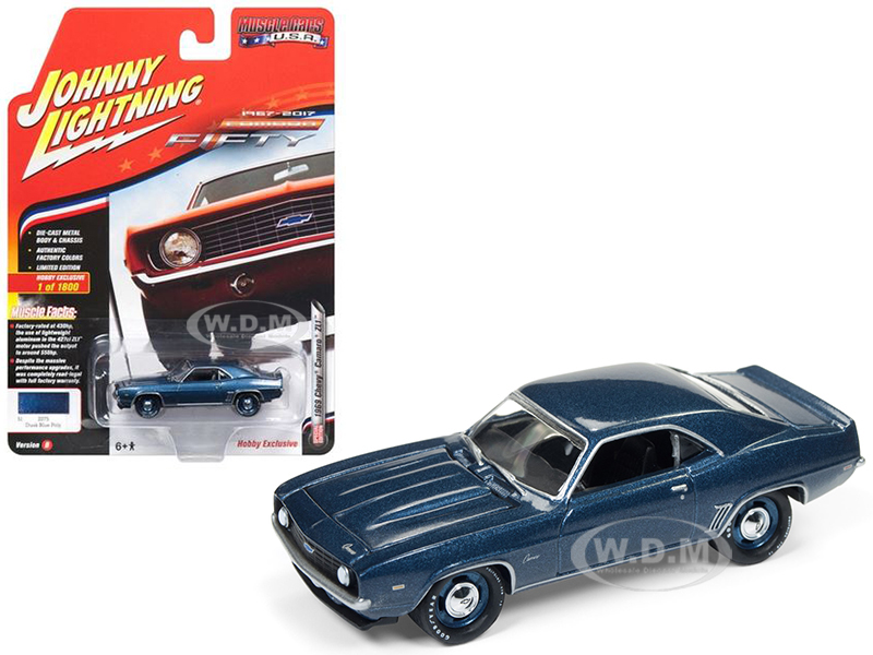 1969 Chevrolet Camaro ZL1 Dusk Blue Poly 50th Anniversary Limited Edition to 1800pc Worldwide Hobby Exclusive
