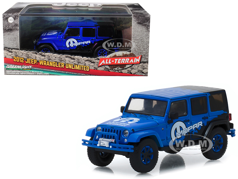 2012_Jeep_Wrangler_Unlimited_MOPAR_Off_Road_Edition_Blue_AllTerrain_Series_143_Diecast_Model_Car__by_Greenlight
