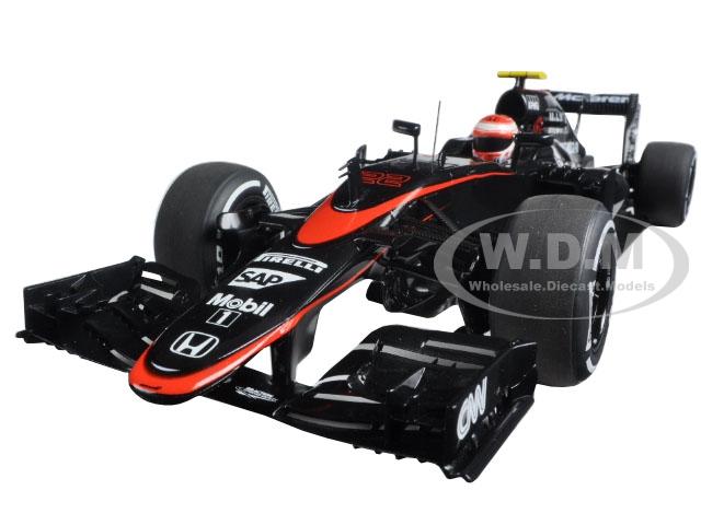Mclaren Mp4-30 F1 2015 Barcelona/spain J. Button #22 With Figure In Cockpit 1/18 Model Car By Autoart