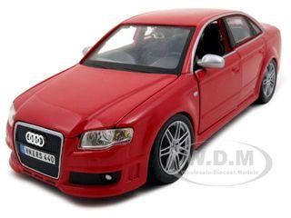 Audi RS4 Red 1/24 Diecast Model Car by Bburago