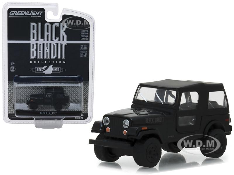 1976_Jeep_CJ7_Black_Bandit_Series_20_164_Diecast_Model_Car_by_Greenlight