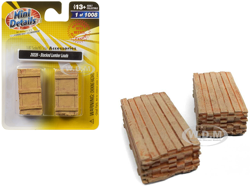 Stacked_Lumber_Loads_2_piece_Accessory_Set_187_HO_Scale_by_Classic_Metal_Works