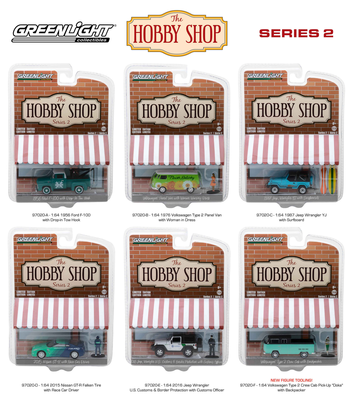 Image Purchase USA Misc. Greenlight The Hobby Shop Series 2 6pc Set 1/64 Diecast Model Cars by Greenlight wvfazoqpz 97020 Toys/Games