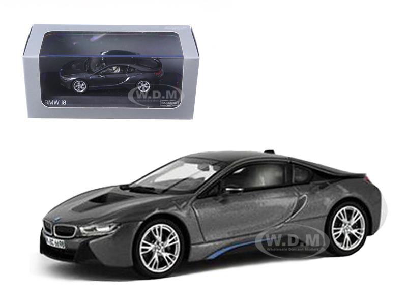 BMW i8 Grey with Blue 1/43 Diecast Model Car by Paragon (91051gry) photo