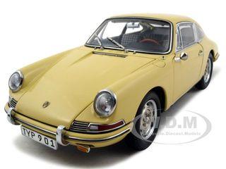 1964 Porsche 901 Sportcoupe Champagne Yellow 1/18 Diecast Model Car By Cmc