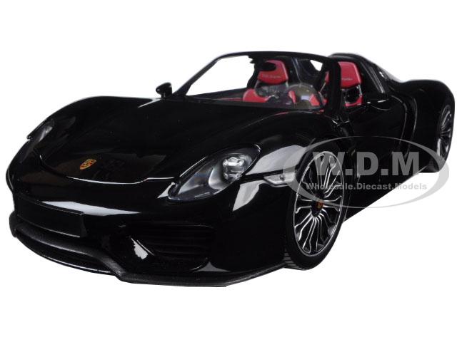 2013 Porsche 918 Spyder Metallic Black Limited Edition to 504pcs 1/18 Diecast Model Car by Minichamps