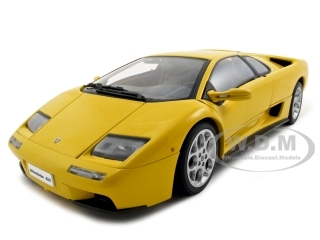 Lamborghini Diablo 6.0 Yellow 1/18 Diecast Model Car by Autoart