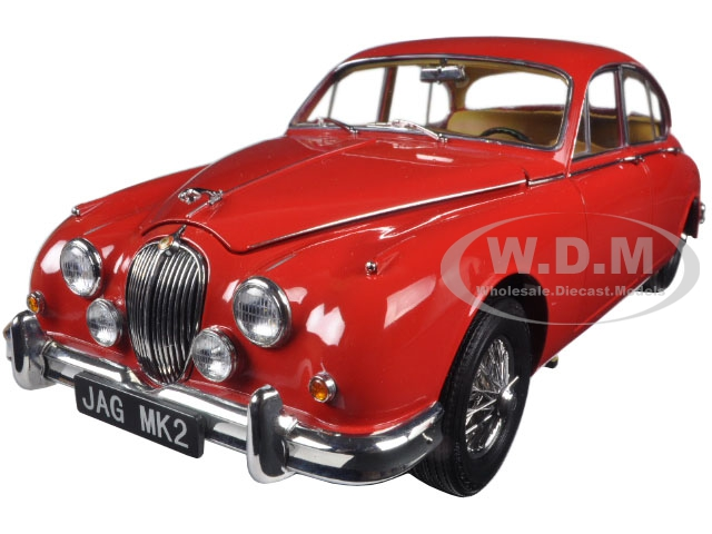 1962 Jaguar Mark 2 3.8 Carmen Red Left Hand Drive 1/18 Diecast Model Car by Paragon (98322) photo