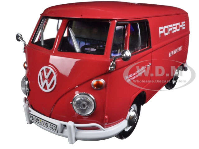 Image ehwrnxcsggopo Toys/Games Motormax 79557RD Volkswagen Models compare prices Volkswagen Type 2 (T1) Delivery Truck Red Porsche Service 1/24 Diecast Model Car by Motormax