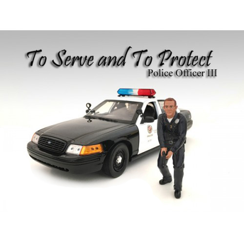 Police Officer III Figurine for 1/24 Scale Models by American Diorama