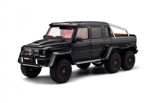 Mercedes Brabus 700 6x6 Black Limited Edition to 999pc Worldwide 1/18 Model Car by GT Spirit