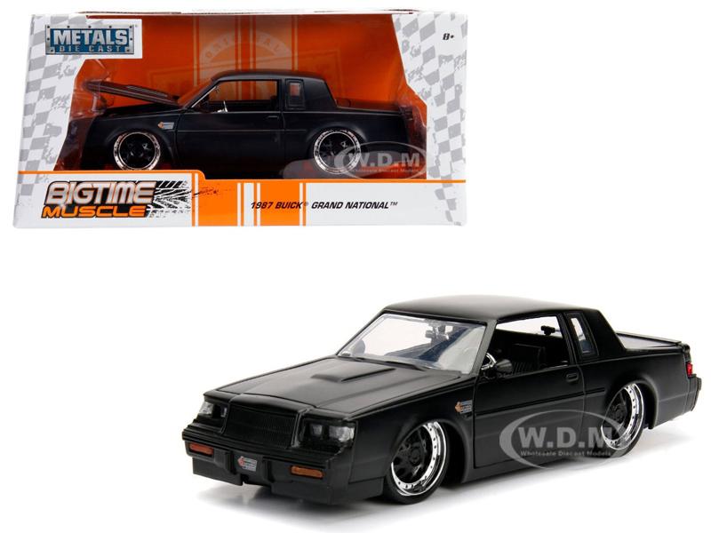 1987 Buick Grand National Matte Black 1|24 Diecast Model Car by Jada