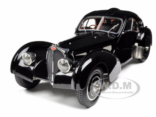 """""""Bugatti Type 57 SC Atlantic Coupe Black Chassis 57.591 1/18 Diecast Model Car by CMC Photo - Gifts For Boys"""