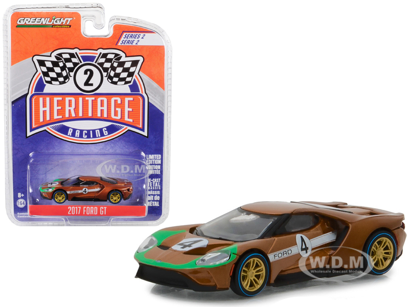 2017_Ford_GT_4_Tribute_to_1966_Ford_GT40_Mk_II_Brown_Ford_Racing_Heritage_Series_2_164_Diecast_Model_Car_by_Greenlight