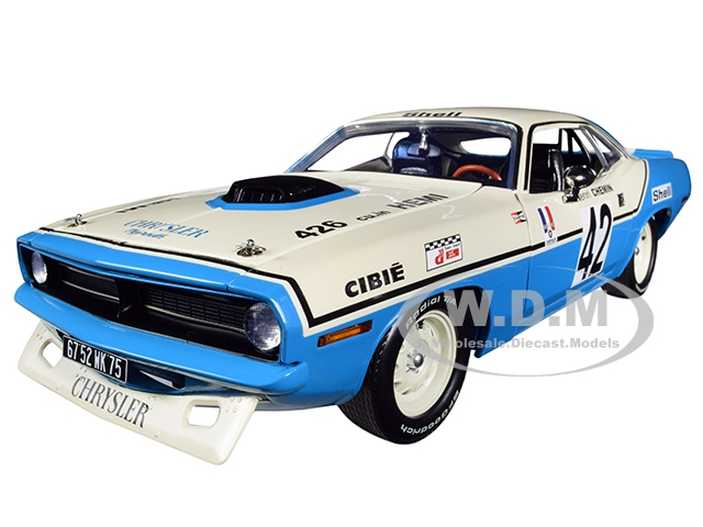 "1970 Plymouth Hemi Barracuda 42 Henri Chemin ""chrysler Of France"" Limited Edition To 696 Pieces Worldwide 1/18 Diecast Model Car By Acme"