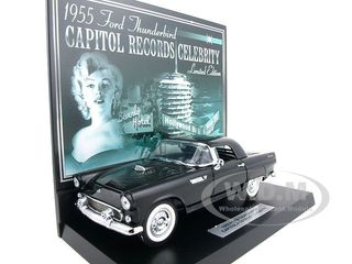 1955 Ford Thunderbird Black Capital Records Celebrity 1 of 1000 Produced 1/24 Diecast Car Model by Franklin Mint
