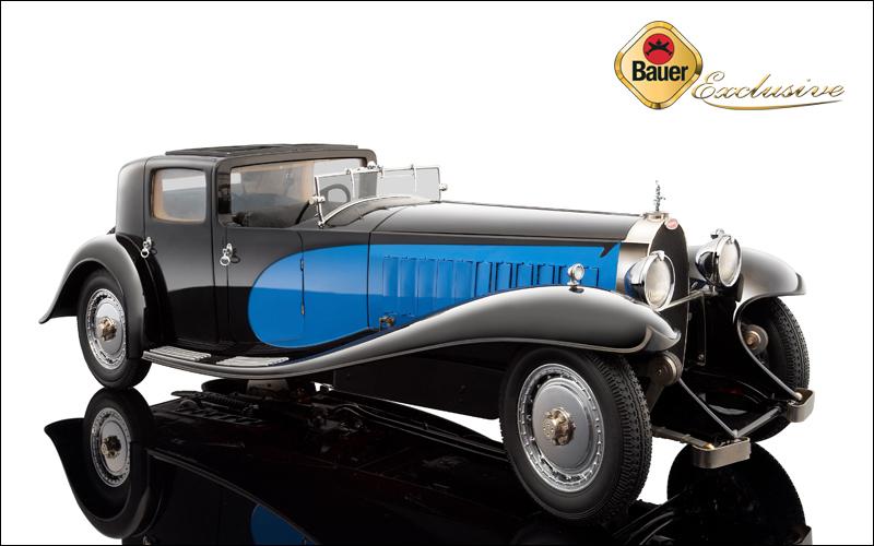 1930 Bugatti Royale Coupe De Ville Type 41 Black/blue 1/18 Diecast Car Model By Bauer