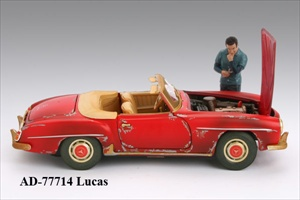 Mechanic Lucas Figure For 118 Diecast Model Cars by American Diorama