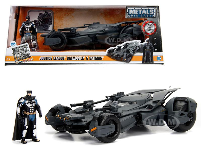 2017_Justice_League_Batmobile_with_Diecast_Batman_Figure_124_Diecast_Model_Car_by_Jada
